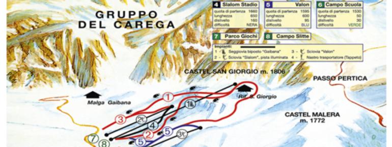 Pistenplan Malga San Giorgio
