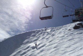 Die Double Diamond Run Wipeout Chutes am Chair 23 ist die anspruchsvollste Abfahrt im Skigebiet.