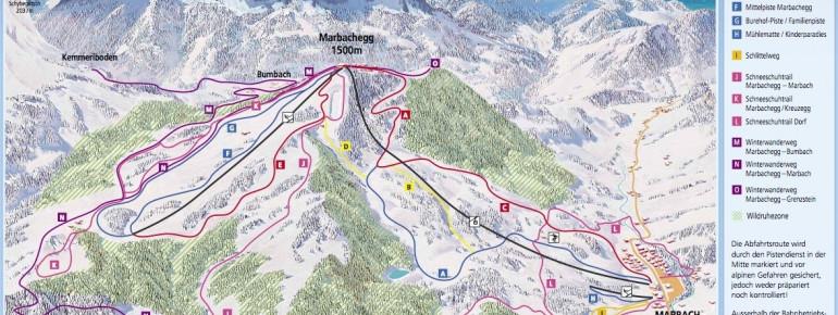 Pistenplan Marbachegg
