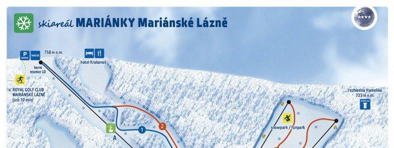 Pistenplan Marianske Lazne