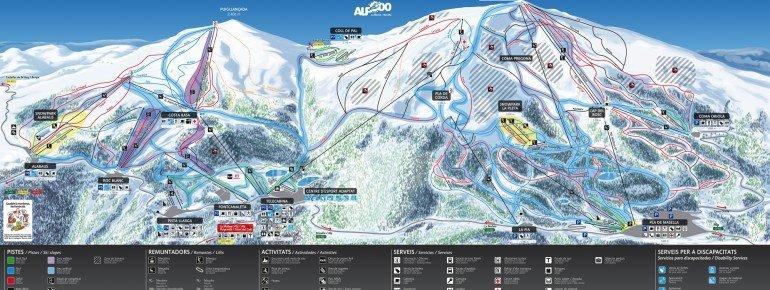 Pistenplan Masella - La Molina (Alp 2500)