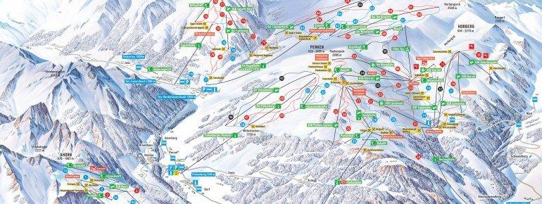 Pistenplan Mayrhofen