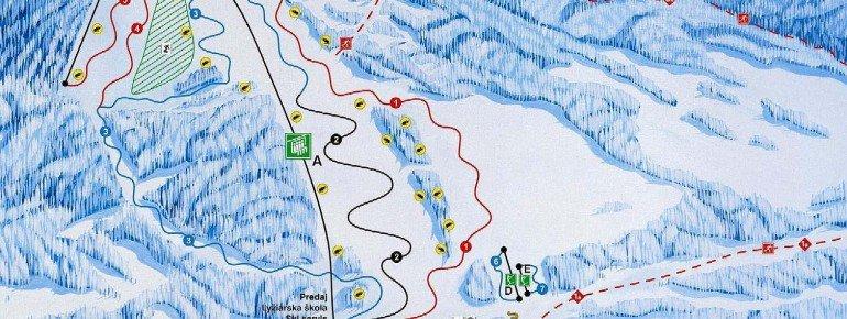 Pistenplan Meander Skipark Oravice