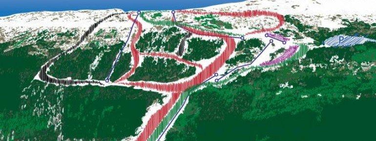 Pistenplan Meråker Alpinsenter
