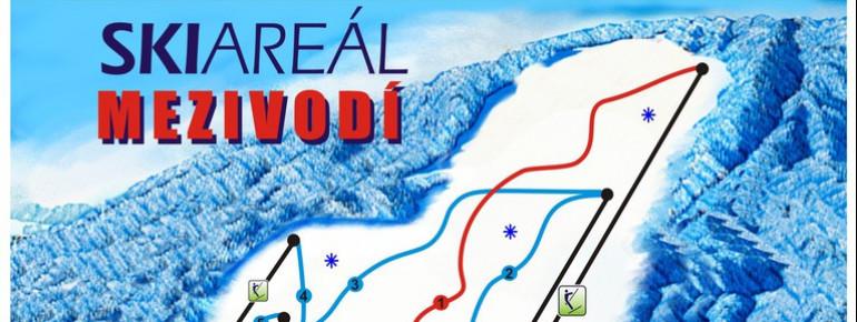 Pistenplan Mezivodi Ski Areal
