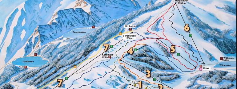 Pistenplan Skiparadies Kranzberg Mittenwald