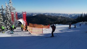 Das Starthaus der Skimovie-Strecke : Von hier aus wird der Weg hinunter auf der FIS Piste gefilmt.