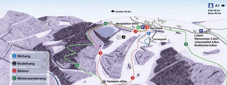 Pistenplan Monschau - Rohren