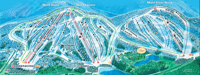 Pistenplan Mont Blanc