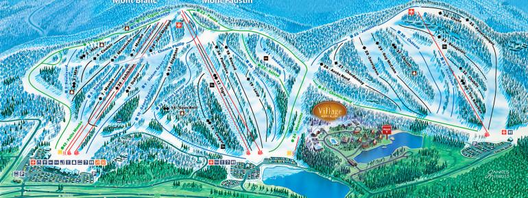 Pistenplan Mont Blanc Quebec