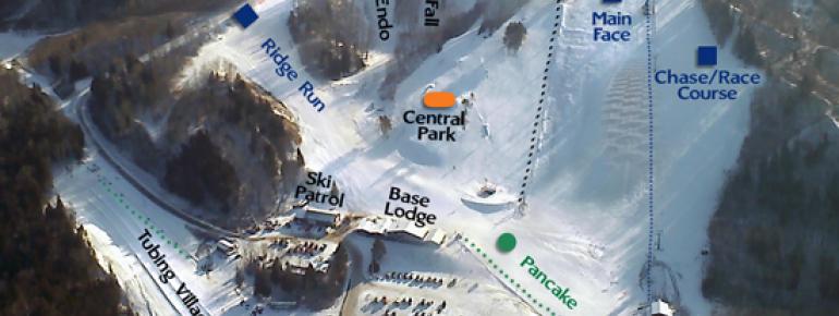 Pistenplan Mont du Lac Ski Area