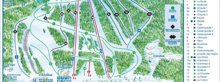 Pistenplan Mont Garceau