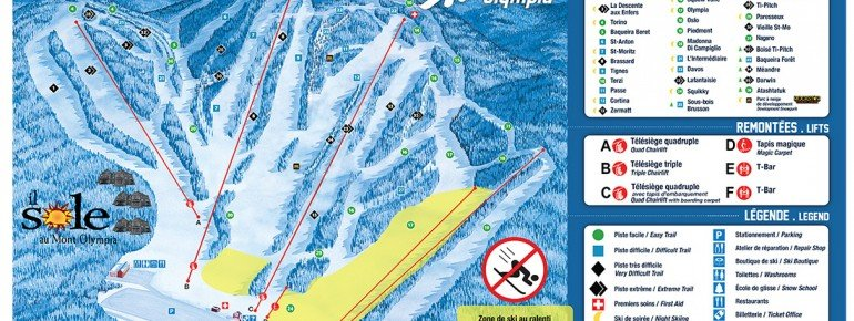 Pistenplan Mont Olympia