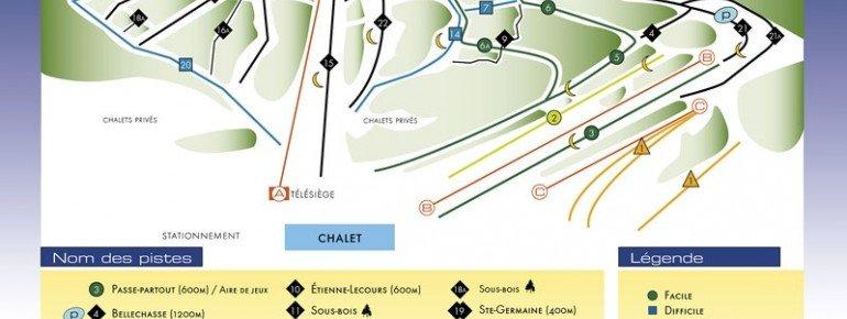 Pistenplan Mont Orignal