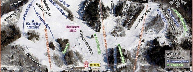 Pistenplan Mont Ripley