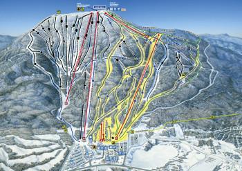 Pistenplan Mont Sainte Anne - Süd