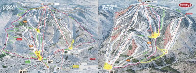 Pistenplan Mont Tremblant