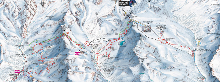 Pistenplan Monterosa Ski