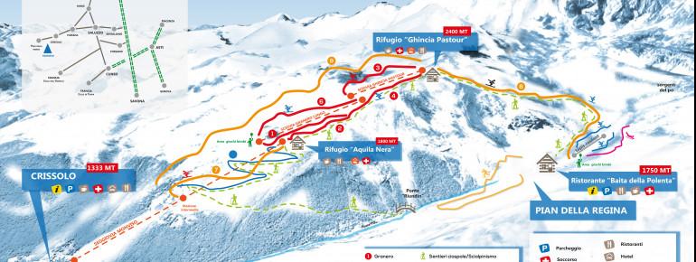 Pistenplan Monviso Ski