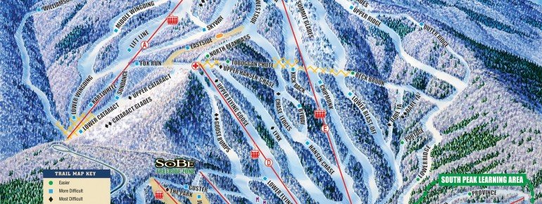Pistenplan Mount Sunapee Resort