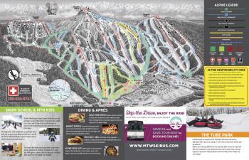 Pistenplan Mount Washington