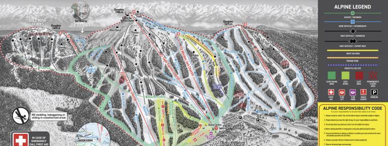 Pistenplan Mount Washington Alpine Resort