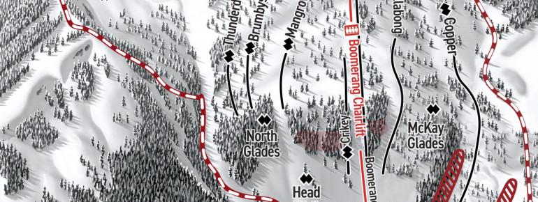 Pistenplan Mount Washington - Outback