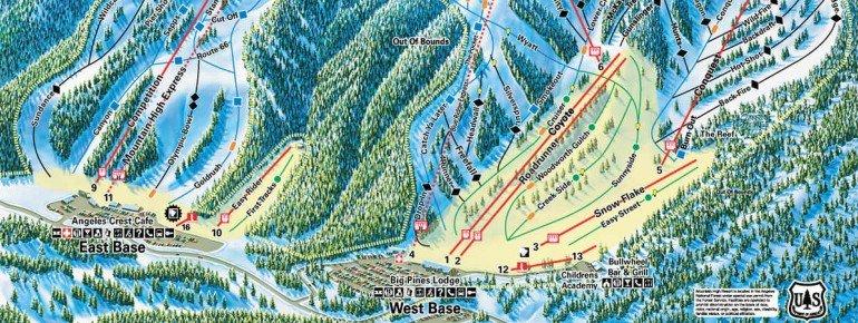 Pistenplan Mountain High Resort