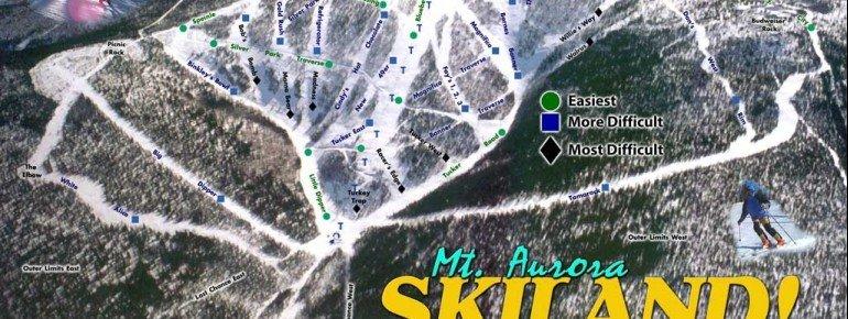 Pistenplan Mt Aurora Skiland Ski Area