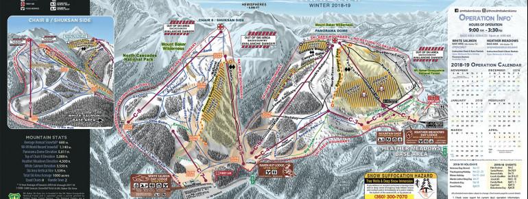 Pistenplan Mt Baker Ski Area