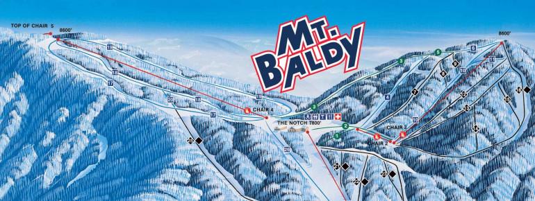 Pistenplan Mt Baldy