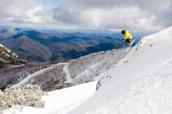 Die südlichen Hänge am Mt Buller sind vor allem für sportliche Skifahrer geeignet.