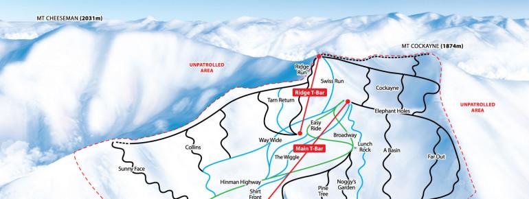 Pistenplan Mt. Cheeseman
