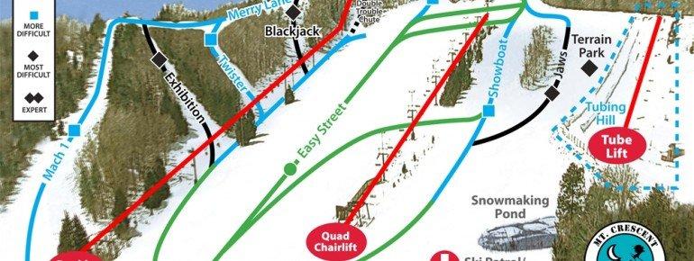 Pistenplan Mt Crescent Ski Area