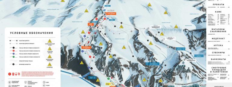 Pistenplan Mt Elbrus