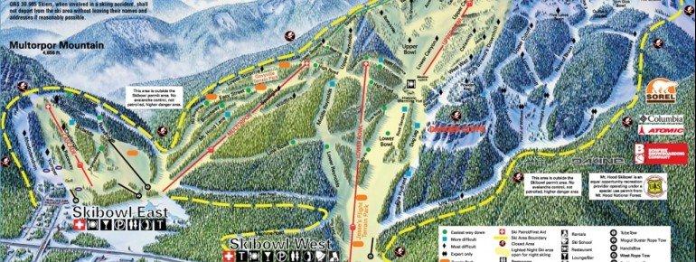 Pistenplan Mt Hood SkiBowl