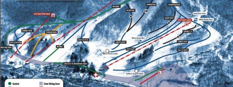 Pistenplan Mt La Crosse