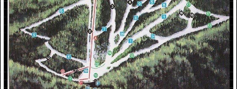 Pistenplan Mt Lemmon Ski Valley