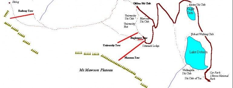 Pistenplan Mt Mawson