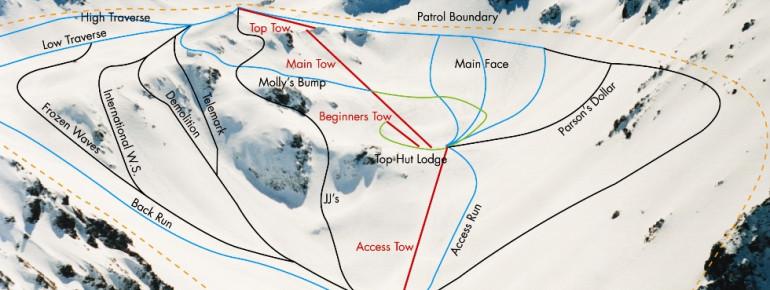 Pistenplan Mt. Olympus