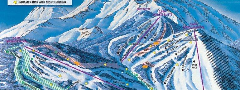 Pistenplan Mt Shasta Ski Park