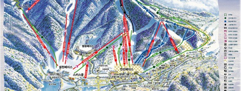 Pistenplan Deogyusan Ski Resort (Muju Resort)