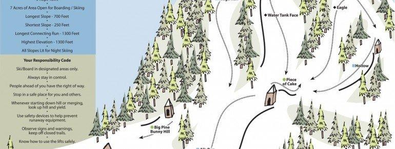 Pistenplan Mulligans Hollow Ski Bowl