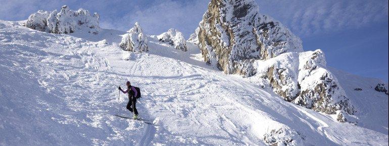 Das Gebiet um den 1.887 Meter hohen Priemesköpfl eignet sich zum Skitourengehen.