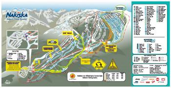 Pistenplan Nakiska Ski Resort
