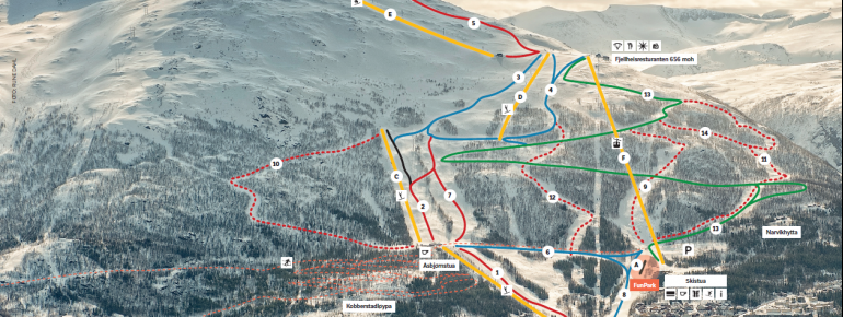 Pistenplan Narvikfjellet