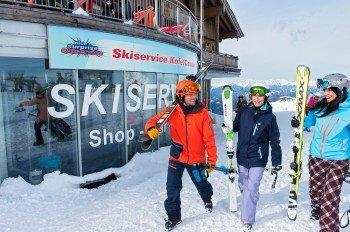 Der Skiservice im Kofelcenter befindet sich direkt an der Bergstation des Millennium-Express.
