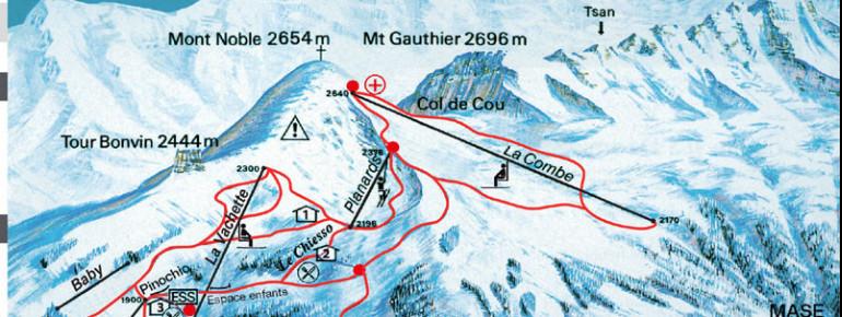 Pistenplan Nax Mont Noble