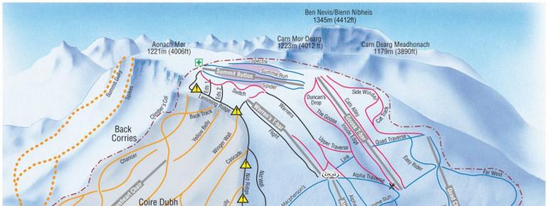 Pistenplan Nevis Range