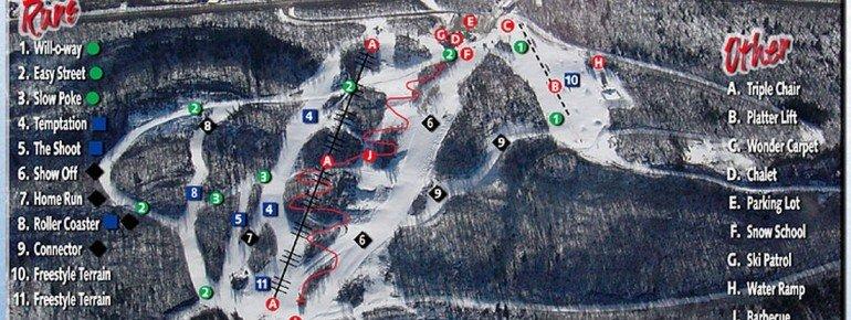 Pistenplan Nitehawk Ski Hill